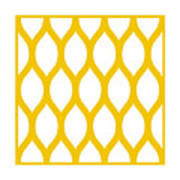 Simplified Latticework With Border In Mustard Poster