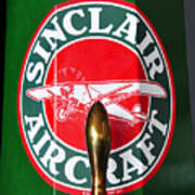 Sinclair Aircraft Pump Poster