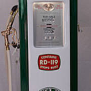 Sinclair Antique Gas Pump Poster