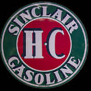 Sinclair Gasoline Porcelain Sign Poster