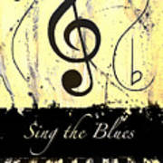 Sing The Blues Yellow Poster