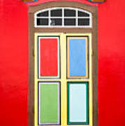 Singapore Red Window Poster