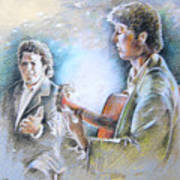 Singer And Guitarist Flamenco Poster