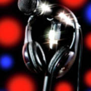 Singer Stage Microphone Poster