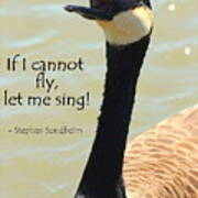 Singing Goose Poster