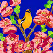 Singing Oriole Poster