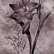 Single Lily-vintage Series  Poster
