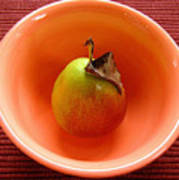 Single Pear In A Bowl Too Poster