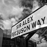 sir alex ferguson way old trafford Manchester Poster