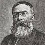 Sir Walter Besant, 1836 -1901. English Poster