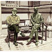 Sitting Next To A Statue Of Jan Karski Legendary Polish Underground Courier    Poster