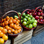 Six Baskets Of Assorted Fresh Fruit Poster