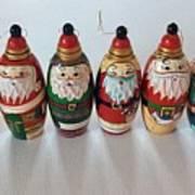 Six Russian Santas Poster