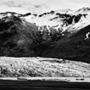 Skaftafell Glacier And End Lagoon With Icebergs Vatnajokull National Park In Iceland Poster