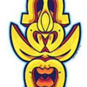 Skate Worrior Mask Poster