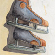 Skates Poster by Ken Powers