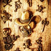 Skeleton Pendant Party Poster