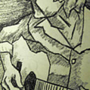 Sketch - Guitar Man Poster