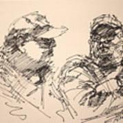 Sketch Men At Tims Poster