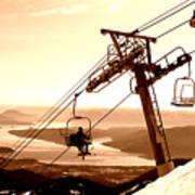 Ski Lift Poster