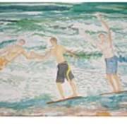 Skim Boarding Daytona Beach Poster