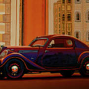 Skoda Popular Sport Monte Carlo 1935 Painting Poster