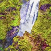 Skogafoss Waterfall #10 Poster