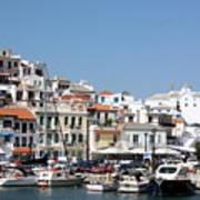 Skopelos Harbour Greece Poster