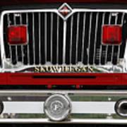 Skowhegan Maine Firetruck Grill Poster