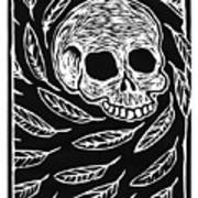 Skull And Feathers Poster