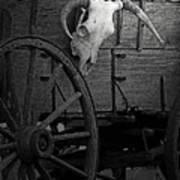 Skull And Wagon Poster