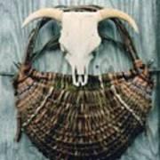 Skull Basket Poster