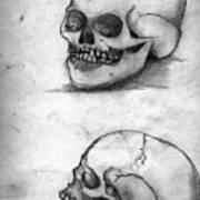 Skull Drawing Poster