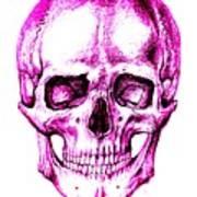 Skull In Purple Poster