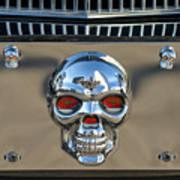 Skull License Plate Poster