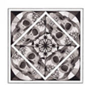 Skull Mandala Series Number Two Poster by Deadcharming Art