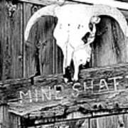 Skull On Wood Poster