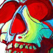 Skull Original Madart Painting Poster