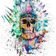 Skull - Wild Sprit Poster