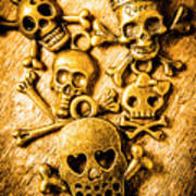 Skulls And Crossbones Poster