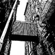 Sky Bridge - Black And White Poster