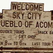 Sky City Sign Poster