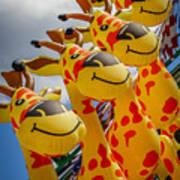 Sky Giraffes Poster