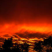 Sky On Fire Orange Glow Sunset Over Virginia Poster