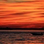 Sky Ripple Sunset Poster
