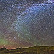 Skygazer Standing Under The Stars Poster