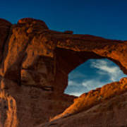 Skyline Arch At Sunset Poster