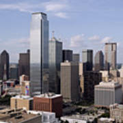 Skyline Of Dallas Texas On A Sunny Day Poster