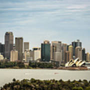 Skyline Of Sydney Downtown  Viewed From Taronga Hill, Australia Poster