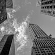 Skytops Manhattan Black And White Poster